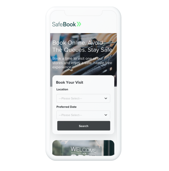 SafeBook Mobile Booking Journey